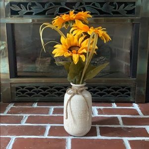 HOME GOODS | Faux Sunflowers in vase